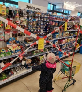 Spielsachen verboten